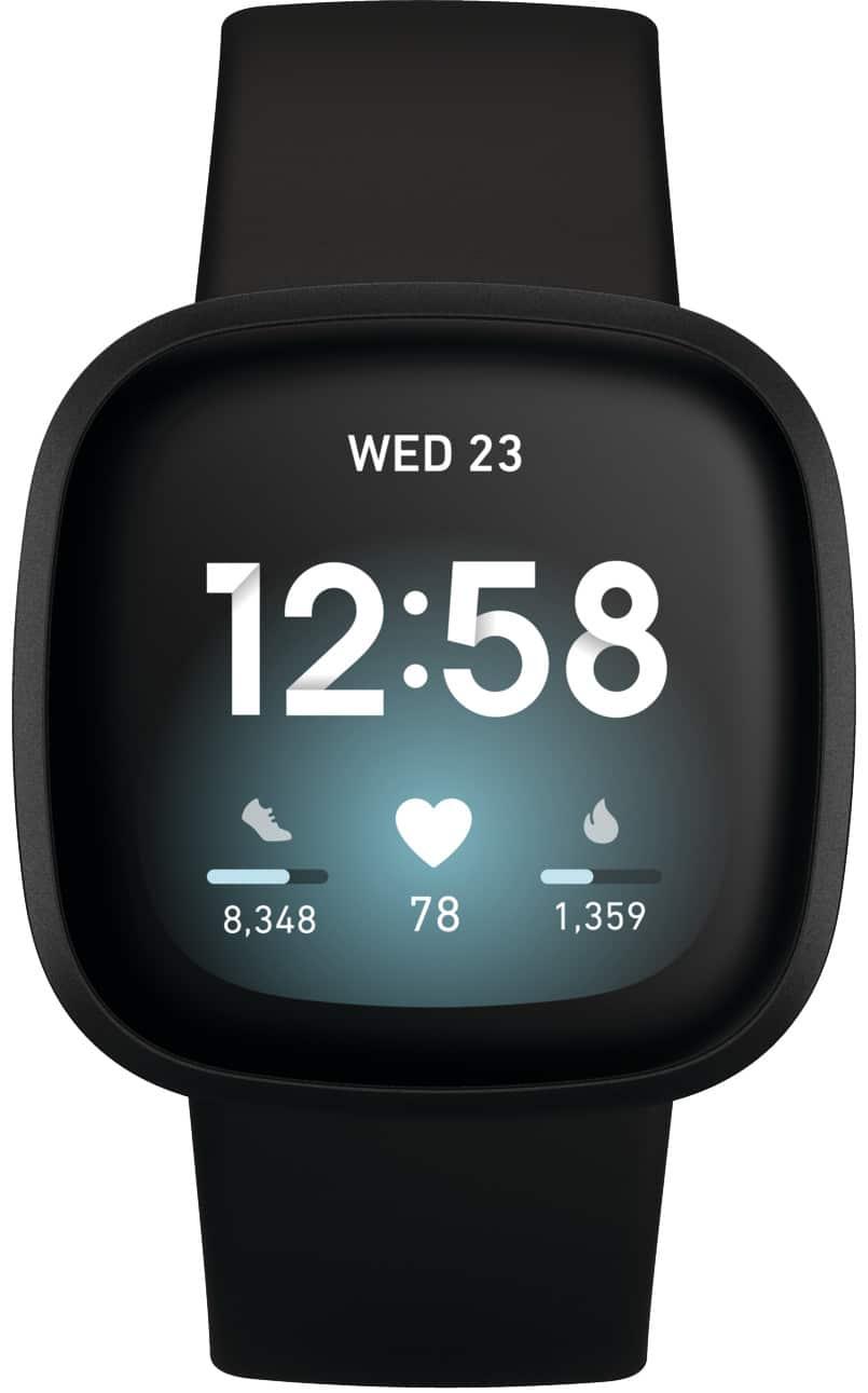 Beste smartwatch Fitbit Versa 3 in zwart