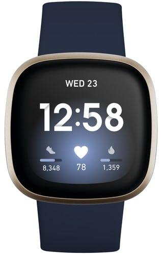 Fitbit versa 3 watch blauw Smartch