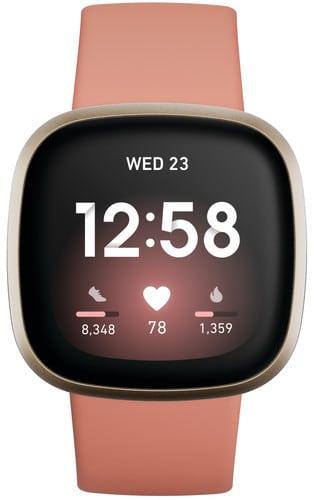 Fitbit versa 3 watch roze Smartch
