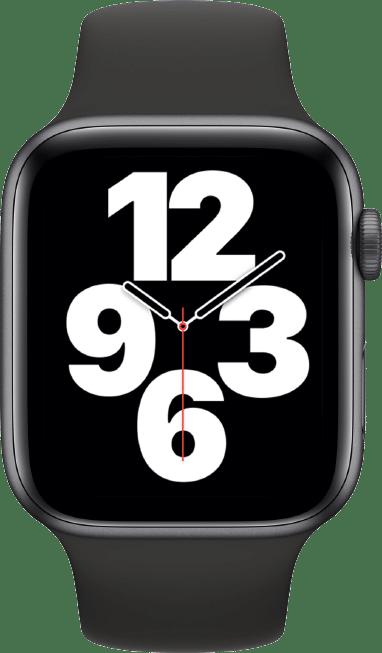 Beste smartwatch Apple Watch SE Spacegrey transparant Smartch